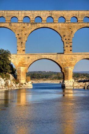 Pont du Gard par Roberto Ferrari (Pinterest)