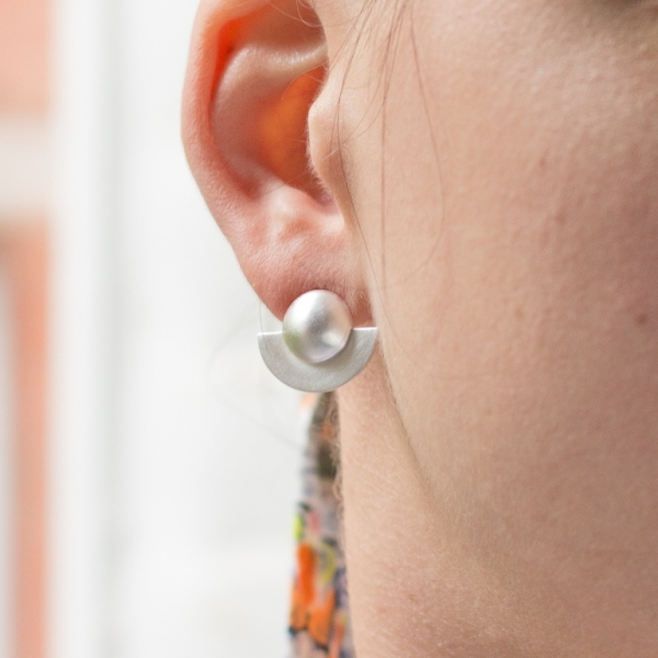 Desidero Paris Blog - Collection Saturne par Desidero - Boucles d'oreilles argent