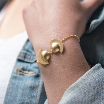 Desidero Paris Blog - Collection Saturne par Desidero - Bracelet vermeil