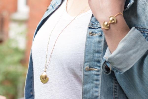 Desidero Paris Blog - Collection Saturne par Desidero - Sautoir et bracelet vermeil