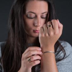 Desidero - AH 2017 - Collection Raffaella - Bagues Vermeil rose - 2 anneaux et 3 anneaux 2