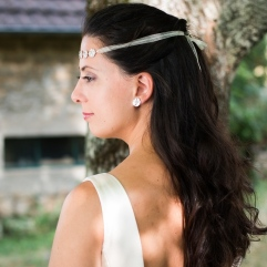 Desidero - Collection Garden Party spéciale mariage - Head Band et boucles d'oreilles Sakura 11