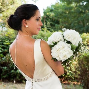 Desidero - Collection Garden Party spéciale mariage -Pendentif de dos Hortensia et boucles d'oreilles Sakura 1