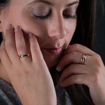Desidero - AH 2017 - Collection Raffaella - Bagues Vermeil rose - 1 anneau et 2 anneaux 2