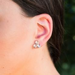 Desidero - Collection Désirée - Boucles d'oreilles triple - Pierre de Lune (3)