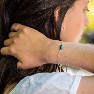 Desidero - Collection Hilda - Bracelet uni malachite