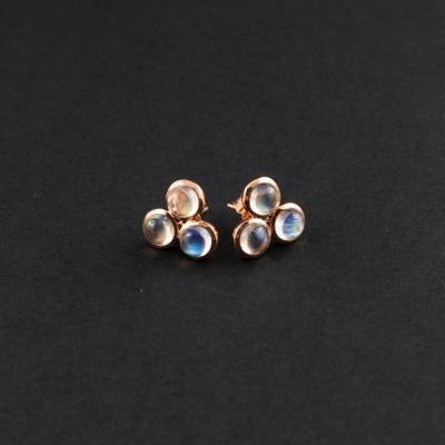 Desidero Joaillerie - Collection Désirée - Boucles d'oreilles 2 Pierre de Lune