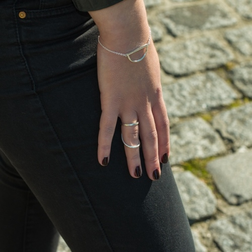 Desidero - AH2016 - Collection Meta - Bague et bracelet argent