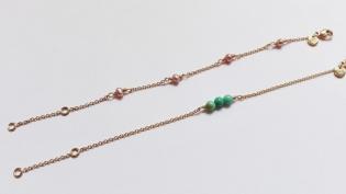 Bracelet Hilda or jaune, perles de culture et pierres fines