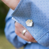 Desidero - Collection Garden Party spéciale mariage - Boutons de manchette Hortensia 1